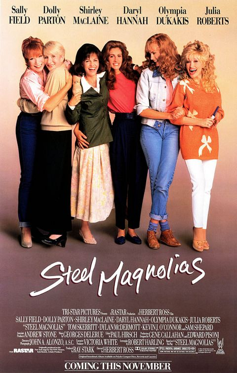 steel_magnolias rare promo one sheet movie poster promo sally field dolly parton shirley maclaine
