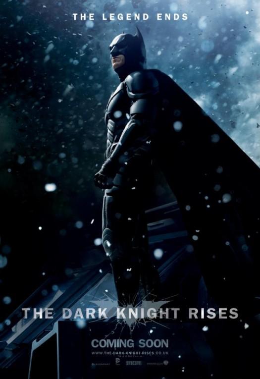 tdkr-batman-poster-snow christian bale dark knight rises individual promo movie poster promo batman rare promo hot sexy one sheet movie poster