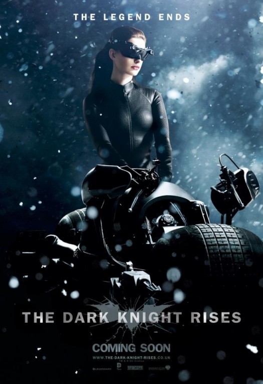 tdkr-catwoman-poster-snow the dark knight rises batman catwoman individual promo movie poster anne hathaway sexy rare promo hot