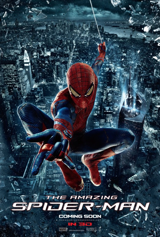 the-amazing-spider-man-new-poster promo rare one sheet hot andrew garfield as spider man rare hot sexy marvel super hero sony