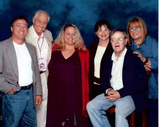 pinky from mike the fanboy with the reunited cast of laverne and shirley at the hollywood collector's show penny marshall garry marshall cindy wiliams