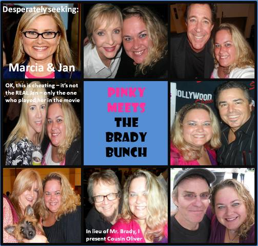 pinky's cast grid the brady bunch rare photo shopped logo from the 1970s florence henderson ann b davis christopher knight jan marcia