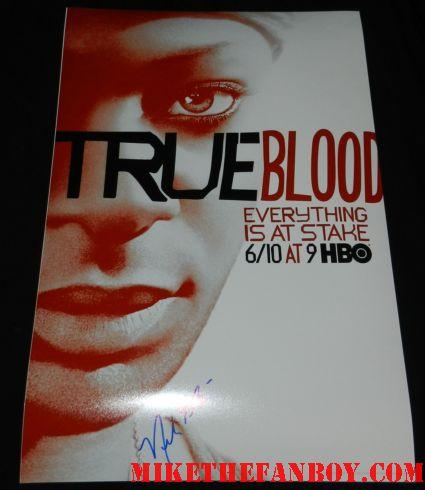 nelson ellis signed autograph true blood season 5 promo mini movie poster individual signed autograph lafayette season 5 true blood