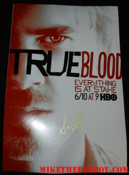 sam trammell signed autograph season 5 true blood mini poster promo signing autographs for fans at the true blood season 5 world movie premiere rare promo signing autographs for fans at the true blood season 5 world movie premiere rare promo