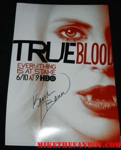 kristin bauer signed autograph true blood season 5 promo poster rare hot sexy pam signing autographs true blood season 5 premiere
