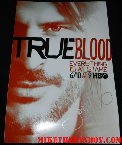 Joe Manganiello signed autograph season 5 true blood mini poster promo signing autographs for fans at the true blood season 5 world movie premiere rare promo