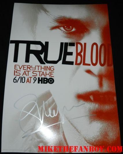 stephen moyer signed autograph promo true blood season 5 individual promo poster hot sexy rare  bill compton
