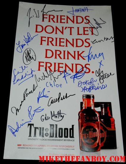 true blood season 5 cast signed autograph promo mini poster friends don't let friends drink friends poster promo