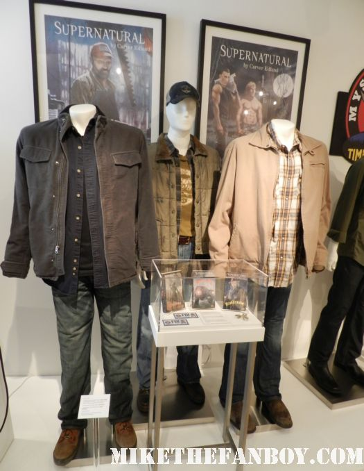supernatural costumes and props on display at the paley centers out of the box exhibit jenson ackles jared padalecki