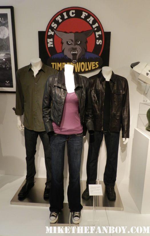 the vampire diaries pop and costume display ian somerhaulder nina dobrev Paul Wesley