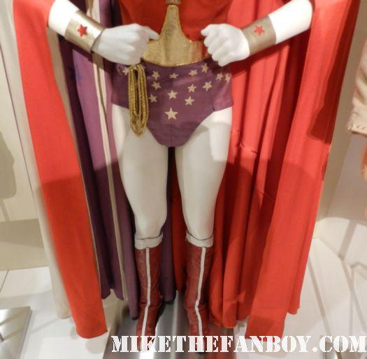 wonder woman rare prop costumer lynda carter superhero costume 1970's paley center out of the box costume display