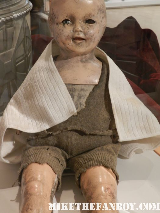 the creepy baby doll prop from true blood true blood prop vials of v and talbots remains on display at the paley center out of the box costume and prop display