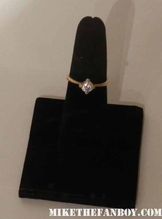 the big bang theory bernadette's engagement ring rare  prop and costume display at the paley center out of the box exhibit rare promo