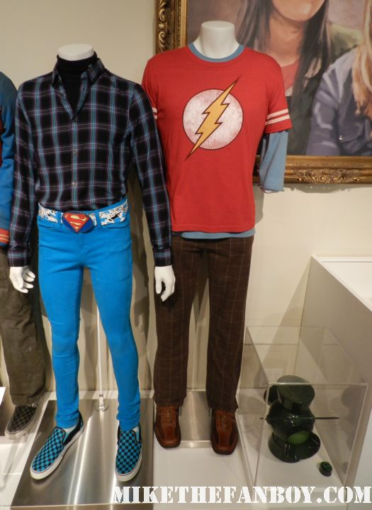 the big bang theory prop and costume display at the paley center out of the box exhibit rare promo