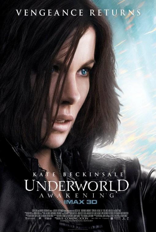 underworld_awakening_ver2 one sheet movie poster kate beckinsale promo hot sexy black leather cat suit hottie rare