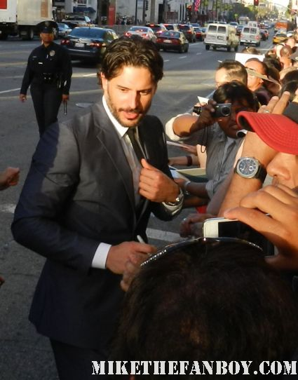 Joe Manganiello sexy true blood star signing autographs at the what to expect when you're expecting world movie premiere hot alcide