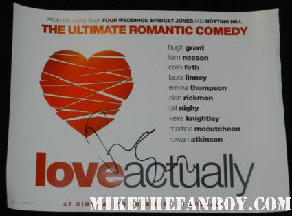Rodrigo Santoro signed autograph love actually mini uk quad movie poster promo liam neeson