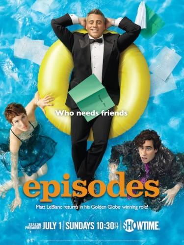 episodes season 2 matt leblanc rare promo poster friends showtime's episodes rare hot