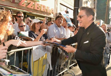 "World Premiere Of Disney Pixar's ""Brave"" - Red Carpet craig ferguson signing autographs for fans at the brave movie premiere"