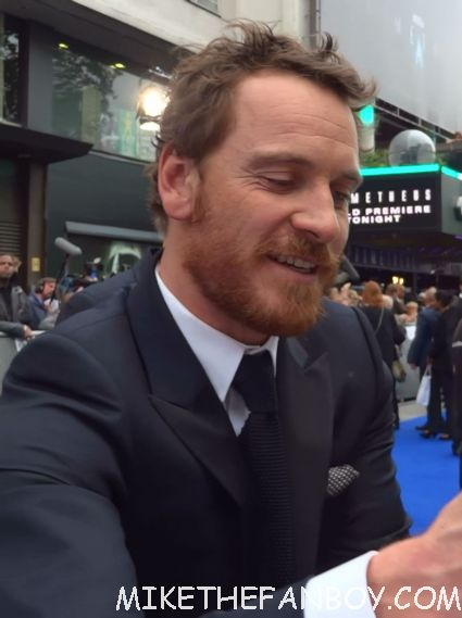 sexy michael fassbender  signing autographs a the uk premiere of prometheus in london hot sexy model photo shoot rare promo