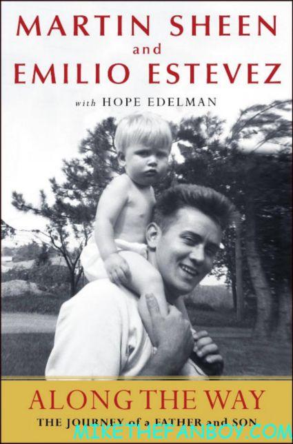 Along the Way: A journey of Father and son book jacket cover rare promo martin sheen emilio estevez