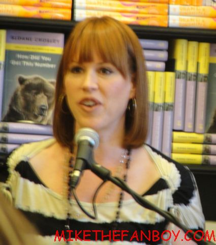 molly ringwald at her booksigning for getting the pretty back at book soup rare promo 16 candles star