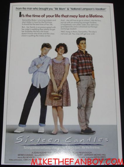 16 candles rare promo mini movie poster promo molly ringwald anthony michael hall michael schoefling
