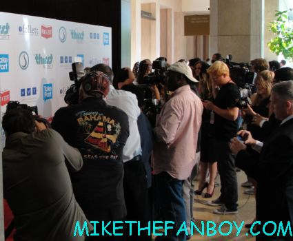 the red carpet at the third annual thirst gala at the beverly hilton with charisma carpenter andrea bowen pauley perrette