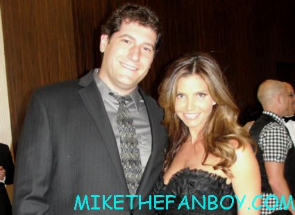 mike the fanboy with buffy the vampire slayer star charisma carpenter at the thirst gala at the beverly hilton cordelia chase
