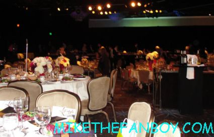 the flower decorations at the thirst gala at the beverly hilton where the golden globes are held