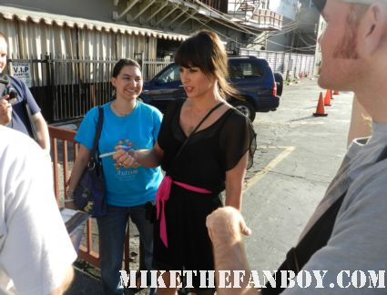 Constance Zimmer signing autographs for fans at the young playwright's festival in los angeles rare promo hot sexy rare