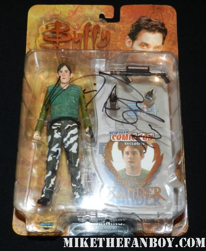 nicholas brendon signed autograph miliary  xander action figure by diamond select rare promo hot sexy
