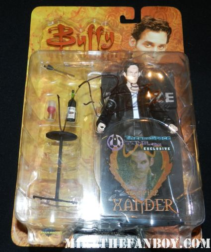 nicholas brendon signed autograph vampire  xander action figure by diamond select rare promo hot sexy