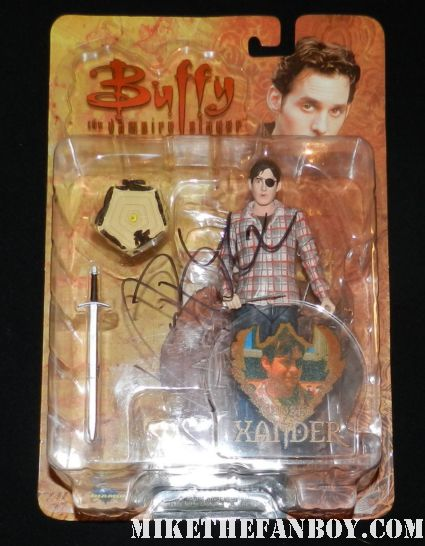 nicholas brendon signed autograph chosen xander action figure by diamond select rare promo hot sexy