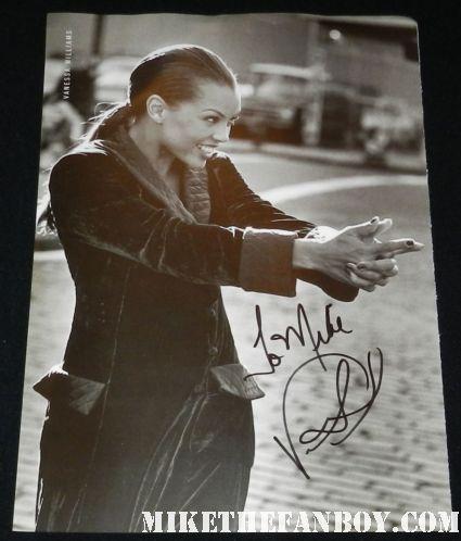 vanessa williams signed autograph rare black and white us weekly art book photo hot sexy rare promo signature