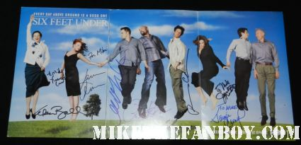 six feet under signed autograph michael c hall lauren ambrose francis conroy james cromwell