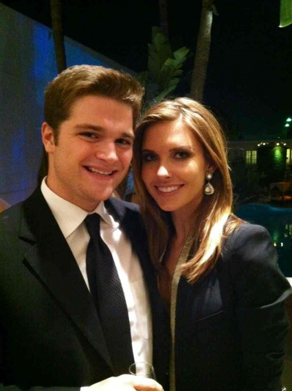 fratboy roach from mike the fanboy with audrina patridge fron ncis at the third annual thirst benefit at the beverly hilton