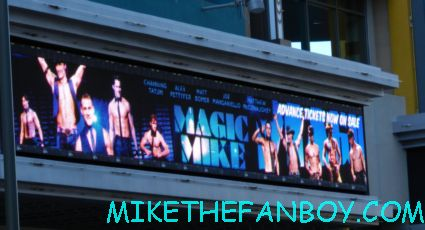 people waiting for the magic mike movie premiere sexy hot channing tatum stripper movie rare promo
