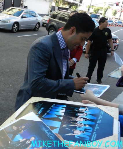 Adam Rodriguez signing autographs at the  magic mike movie premiere  magic mike movie premiere people waiting for the magic mike movie premiere sexy hot channing tatum stripper movie rare promo
