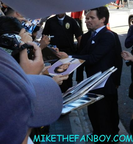 sexy matt bomer signing autographs at the  magic mike movie premiere  magic mike movie premiere people waiting for the magic mike movie premiere sexy hot channing tatum stripper movie rare promo