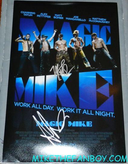 magic mike signed autograph mini movie poster matthew bomer alex pettyfer Matthew McConaughey