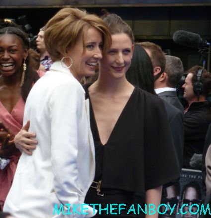 emma thompson signing autographs  to the uk premiere of men in black III 3 men in black dancers the men in black III 3 uk movie premiere red carpet with will smith josh brolin emma thompson and more