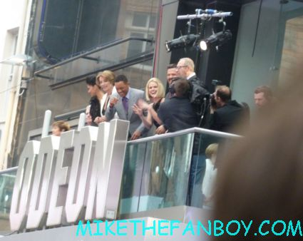 The cast of men in black III gathering at the odeon movie theater jay-z  signing autographs  to the uk premiere of men in black III 3 men in black dancers the men in black III 3 uk movie premiere red carpet with will smith josh brolin emma thompson and more