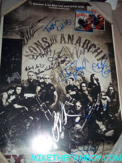 sons of anarchy rare cast signed autograph sdcc 2011 rare promo min poster promo