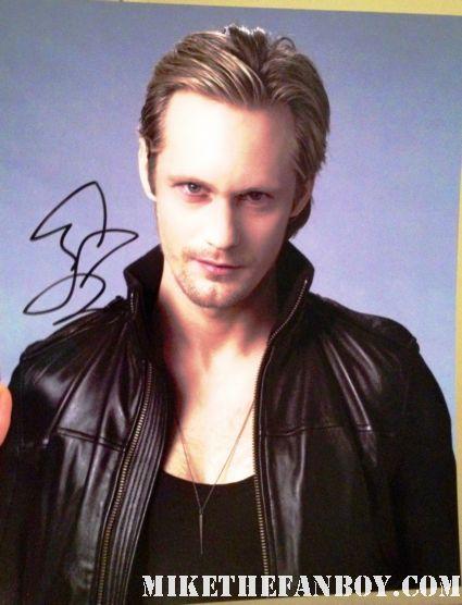 alexander skarsgard signed autograph photo rare promo hot sexy vampire rare promo