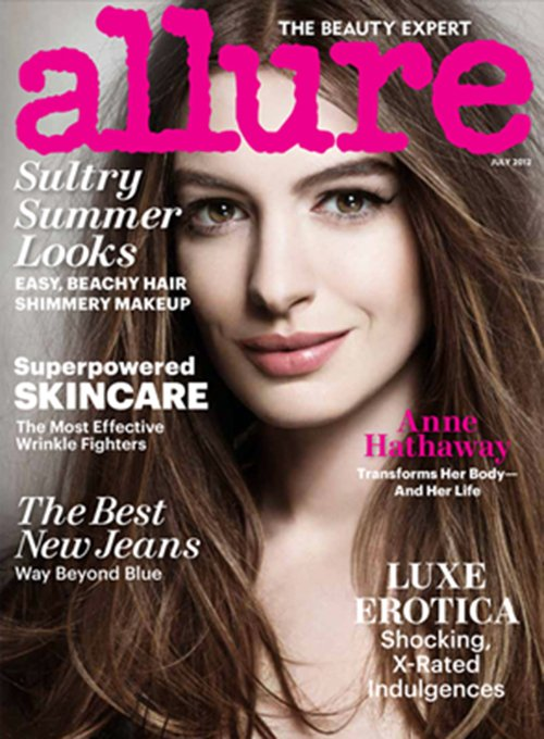 anne-hathaway-allure magazine July 2012 magazine cover rare promo hot sexy catwoman photo shoot rare promo damn sexy dark knight rises