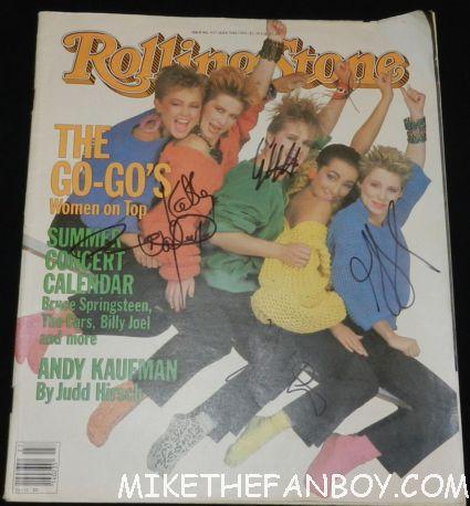 belinda carlisle signed autograph vintage rolling stone magazine kathy valentine jane wiedlin gina shock