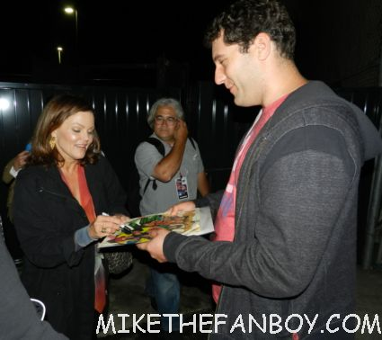 belinda carlisle signing autographs for mike the fanboy at los angeles gay pride 2012 go-go's hot sexy lead singer