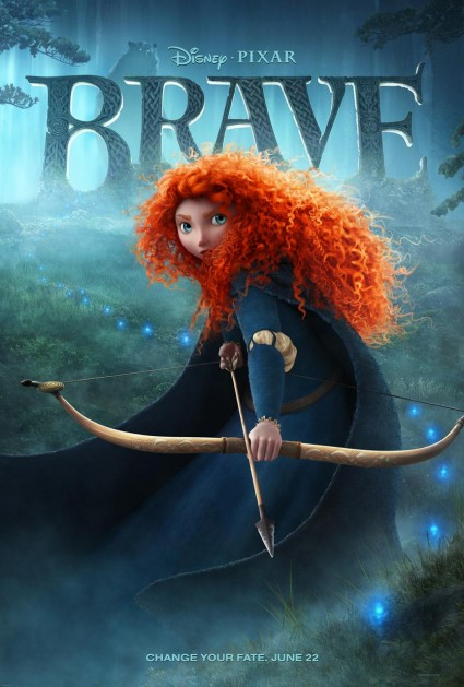 brave-movie-poster one sheet walt disney pixar animated children's classic rare promo one sheet movie poster promo rare