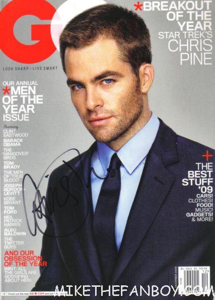 chris pine signed autograph gq magazine HOT SEXY  rare star trek captain kirk rare hot sexy gq magazine cover promo